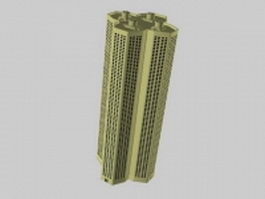 Apartment tower block 3d preview
