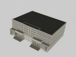 Administration building 3d preview