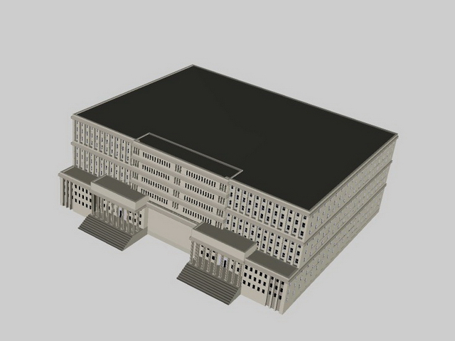 Administration building 3d rendering