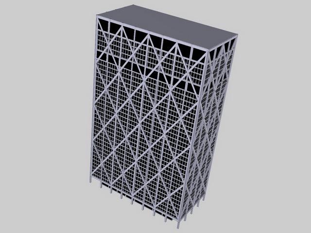 Frame building 3d rendering