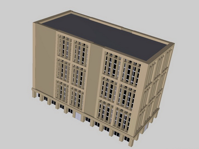Traditional office building 3d rendering