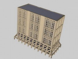 Traditional office building 3d preview