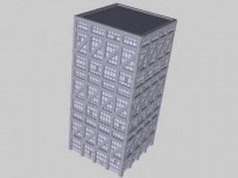School architecture 3d preview