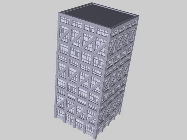 School architecture 3d rendering