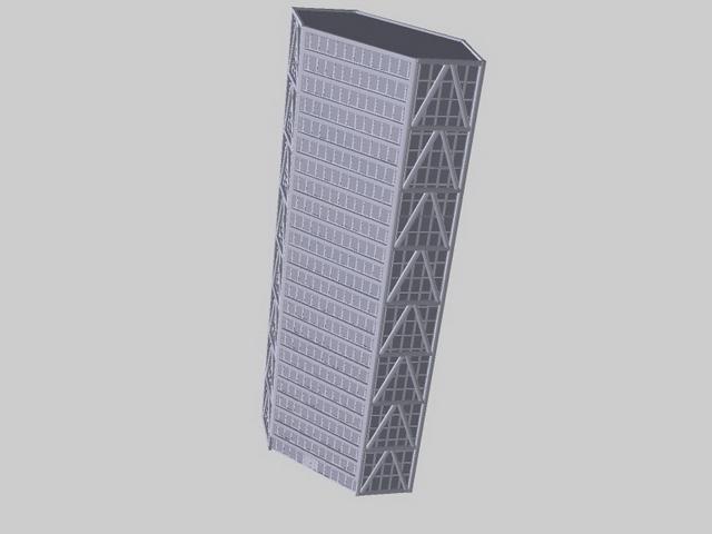 Modern hotel architecture 3d rendering