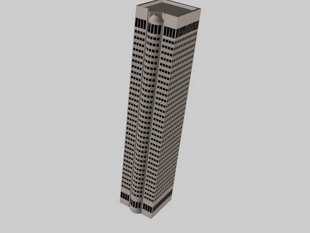 City office tower 3d rendering