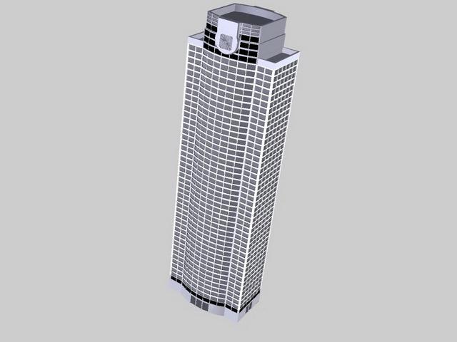 Office tower building 3d rendering
