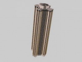 High rise flats 3d model preview