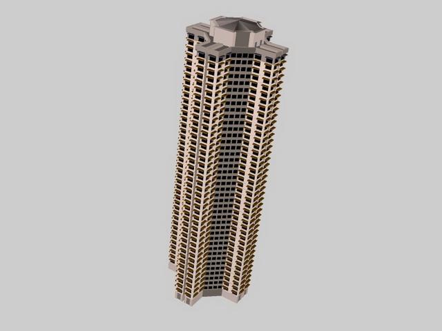 High rise flats 3d rendering