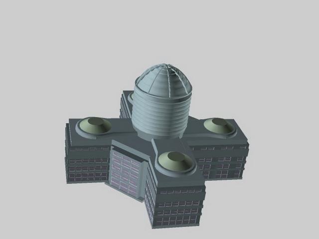Planetarium building 3d rendering