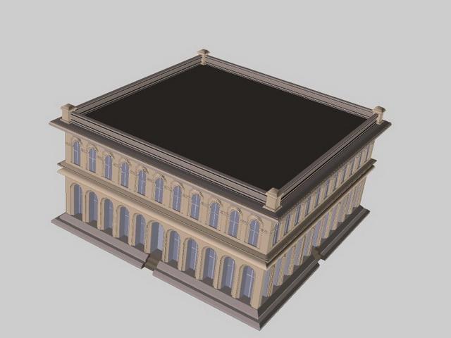 City hall 3d rendering