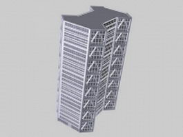 Modern office building 3d model preview