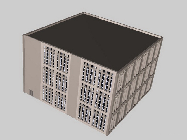Teaching building 3d rendering