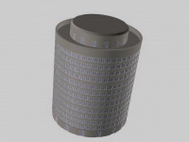 Cylinder building architecture 3d model preview