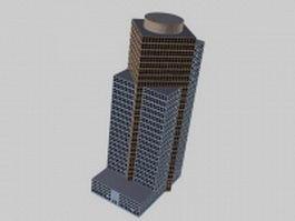 Commercial center architecture 3d model preview