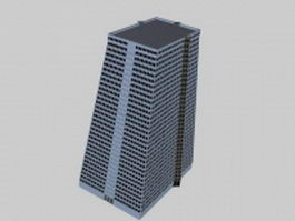Office tower 3d model preview