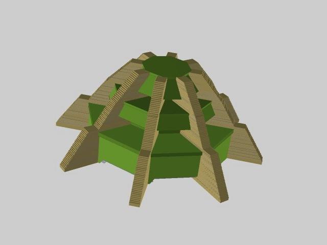 Mayan sacrificial altar 3d rendering