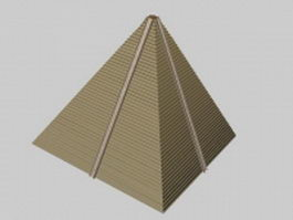 Egyptian pyramid 3d model preview