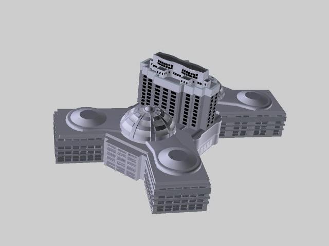 Modern factory buildings 3d rendering