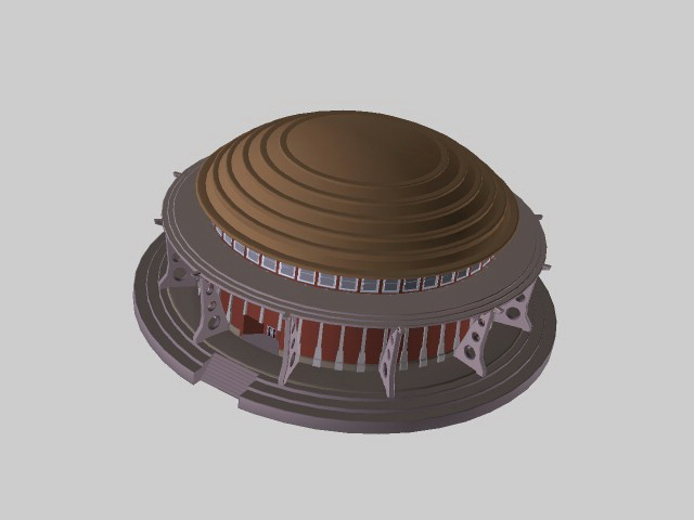 Ancient building 3d rendering
