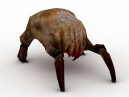 Fast headcrab 3d model preview