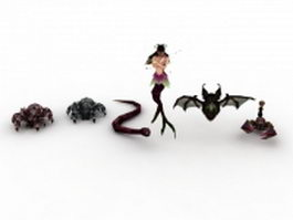 Game character animals 3d preview