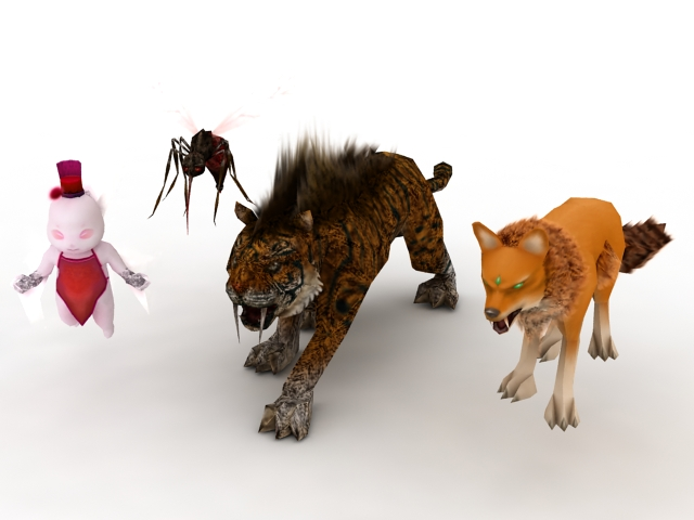 Animals & monsters 3d rendering