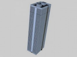 Commercial architecture 3d model preview