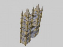 Medieval gate house 3d preview
