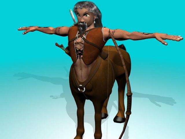 Old Centaur warrior 3d rendering