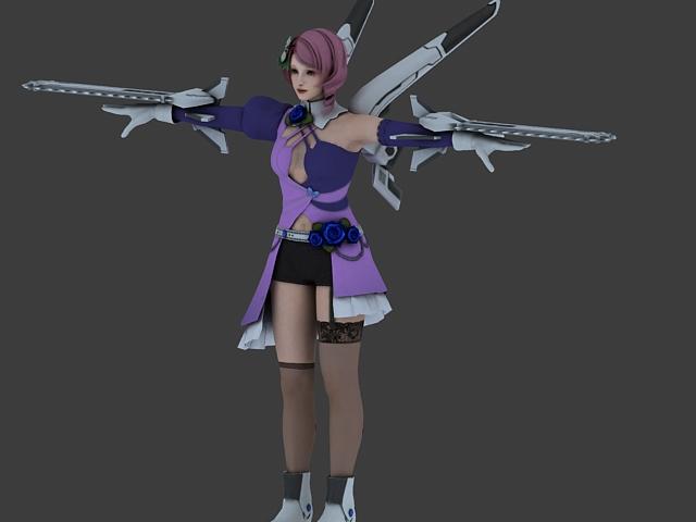Alisa in Tekken Tag Tournament 3d rendering