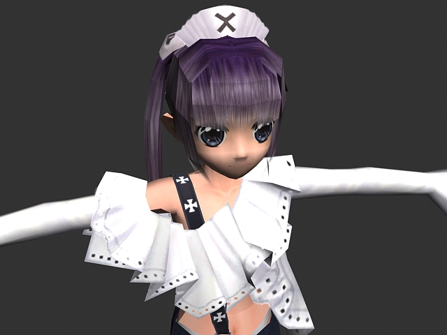 Anime girl character 3d model 3ds max files free download