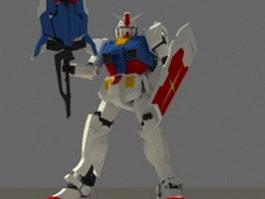 RX-78 Gundam mobile suit 3d model preview