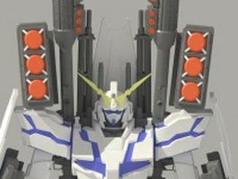 RX-0 Unicorn Gundam 3d model preview
