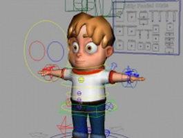 Cartoon boy rigged 3d preview