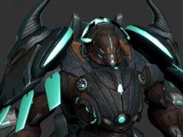 Mechanical monster 3d preview
