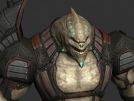 Alien warrior 3d preview