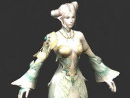 Sorceress female fantasy 3d model preview