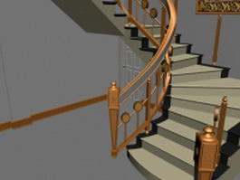 Staircases in house 3d preview