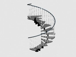 Circular stairway 3d preview