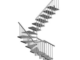 Winder staircase 3d preview