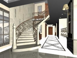 Home luxury staircases 3d preview
