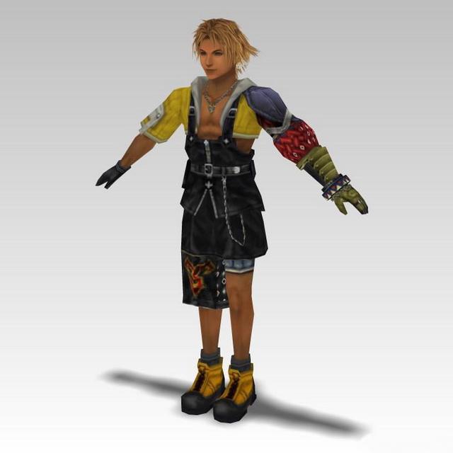 Tidus in Final Fantasy 3d rendering