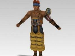 Wakka in Final Fantasy 3d model preview