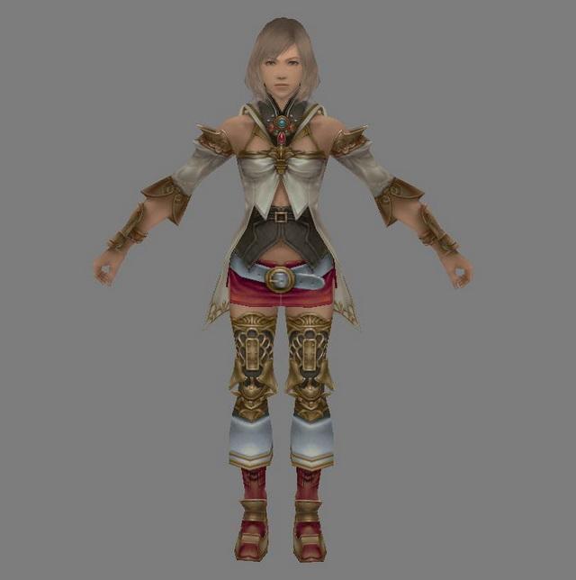 Ashe in Final Fantasy 3d rendering