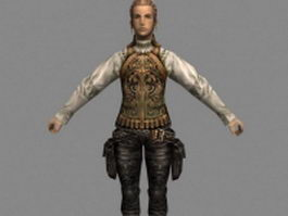 Balthier in Final Fantasy XII 3d model preview