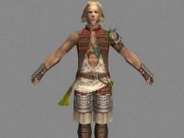 Basch fon Ronsenburg in Final Fantasy XII 3d model preview