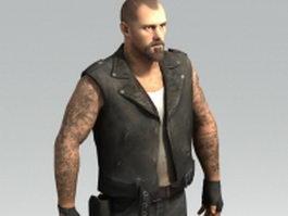 Biker Francis - Left 4 Dead character 3d model preview