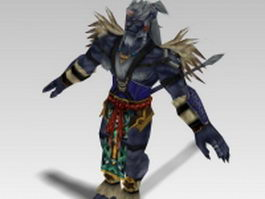 Kimahri Ronso in Final Fantasy X 3d model preview
