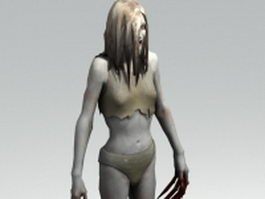 Female infected witch - Left 4 Dead character 3d preview